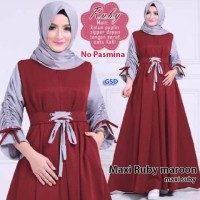 maxi ruby marun terusan dress gamis hijab terusan maxi dress hijab t