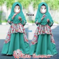 kids aurora3 tosca terusan long maxi dress pashmina baju muslim anak