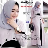 maxi kanza abu terusan long dress maxi baju dress gamis hijab muslim