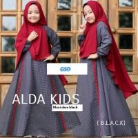 maxi alda hitam terusan maxi long dress hijab terusan long gamis dre