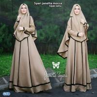 syari janeta mocca terusan dress gamis hijab long maxi dress bergo t