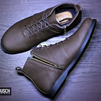 Sepatu pria premium original hand made MRCH BRODO Sepatu touring - Hitam, 39