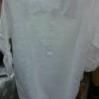 Blouse Brokat Brukat Kong Lee Dress Tunik Lengan Kerut