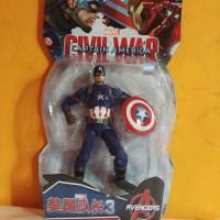 Marvel Captain America Action Figure 1:12 +-16cm Avengers civil war