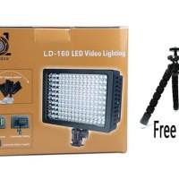 LD-160 HD-160 LED Video Lighting-lampu studio foto free Gorilla Pod