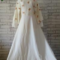 Dress Cape Butik Murah big size/dress pesta XXL/baju gamis/baju muslim