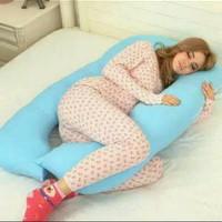 Bantal untuk ibu hamil warna biru muda