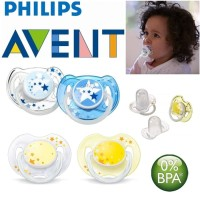 New PHILIPS AVENT 2pcs Night Time Pacifier 0-6m Avent Soother Empeng