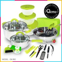 Panci Oxone OX-992 23Pcs Travel Cookware Set