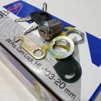 Kunci Kait Laci Lemari Loker Cam Lock Camlock HUBEN HL 103.20 (20 mm)
