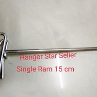Gantungan Display Aksesoris Ram Ukuran 15 cm Stenlis crome
