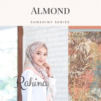 Hijab Voal Printed Scarf Almond Kerudung Segi Empat Salem Rahina -