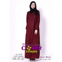 Gamis katun jepang busui frienly polos BIANCA - ORI Clover Clothing