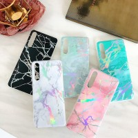 SOFT BACK COVER CASING CASE MARBLE SILICON HUAWEI P20, P 20
