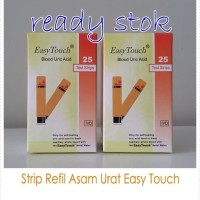 Strip Tes Asam Urat Uric Acid Easy Touch Isi 25