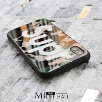 Supreme Casing Tempered Soft Case Untuk iPhone 7 / 8 - Camouflage
