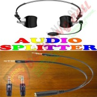Splitter Audio 3.5mm Female ke Dual 3.5mm Male HiFi (Mic+Hear) - MLG