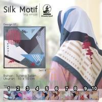 Kerudung SILK MOTIF A7 UMAMA Hijab Jilbab Segi Empat Satin Motif