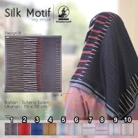 Kerudung SILK MOTIF A10 UMAMA Hijab Jilbab Segi Empat Satin Motif