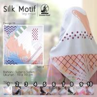 Kerudung SILK MOTIF A6 UMAMA Hijab Jilbab Segi Empat Satin Motif