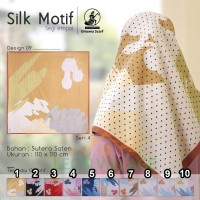 Kerudung SILK MOTIF A9 UMAMA Hijab Jilbab Segi Empat Satin Motif