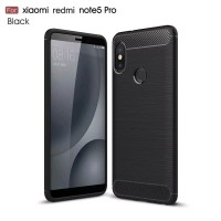 Case Ipaky Carbon Fiber REDMI NOTE 5 PRO Softcase Shockproof TPU