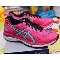 Sepatu Asics Wanita Running dan Volly kayano 23 pink