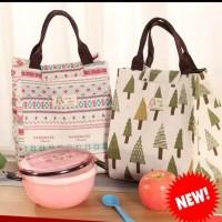 002 insulated lunch bag cooler bag tas bekal kotak makan rantang lucu