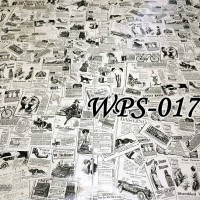WPS017 NEWSPAPER KORAN WALLPAPER STICKER WALPAPER DINDING MURAH