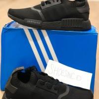 SEPATU SPORT SNEAKERS Adidas NMD R1 TRIPLE BLACK PRIMEKNIT JAPAN