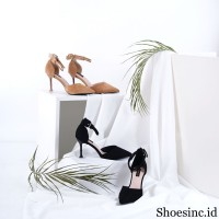 [READY STOCK] High heels strap bahan bludru model terbaru 1635-3