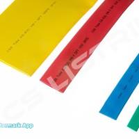 Heatshrink Warna Ecer/Grosir 12 mm @ 1 meter ( Selongsong Bakar ) - Biru