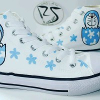 Sepatu Converse Motif Doraemon