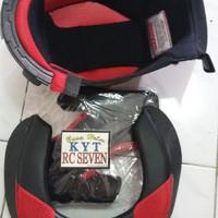 Busa helm KYT RC7 1set sama kaca/visor flat