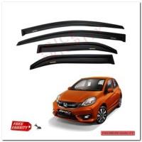 PP Talang Air Mobil Brio / Car Side Visor Brio - Model Slim + 3M
