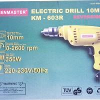 Mesin Bor Listrik Kenmaster Km-603r 10 mm Bolak Balik