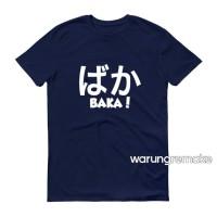 Kaos Baju Obral Combed 30S Distro ANiME BAKA Jepang Japan Polos Murah