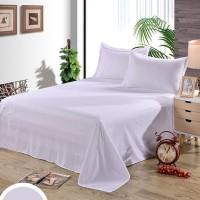 BED COVER SET POLOS Putih OBRAL MURAH / Sprei Hotel Tinggi 30cm