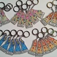gantungan kunci muslimah custom nama 9cm,1sisi