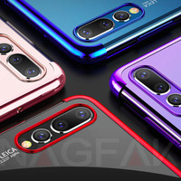 SOFT BACK COVER HARD TRANSPARANT ELECTROPLATED HUAWEI P20, P 20 BUMPER