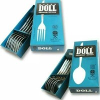 sendok makan super doll stainless steel isi 6pcs perdus