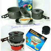 Paket Kompor Mawar dan Cooking Set DS-300