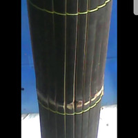 Tirai bambu hitam 1.5x2 m
