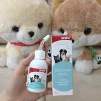 Bioline ear care. Cairan pembersih kuping hewan anjing kucing kelinci