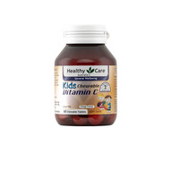 Healthy Care Kids Chewable Vitamin C, 60 Tablets