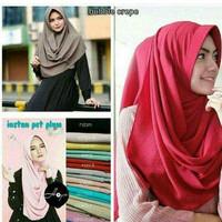 Hijab instan ped plum