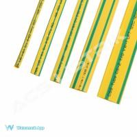 Heatshrink Kuning Hijau Ecer/Grosir 12 mm @ 1 meter Selongsong Bakar
