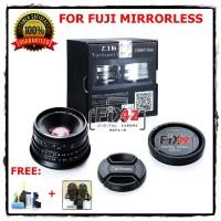 Lensa 7artisan 25mm F1.8 Manual Focus For Fuji Mirrorless Paket Hemat