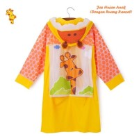 Jas hujan anak terusan giraffe / jerapah / animal / kuning - 859