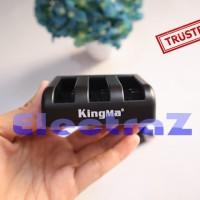 KingMa Charger Baterai 3 Slot for Xiaomi Yi 2 4K